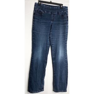Jag jeans high rise bootleg distressed 10